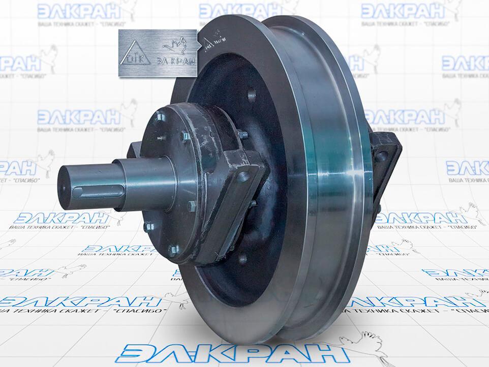 Колесная установка на базе колеса кранового двухребордного К2Р-500х100
